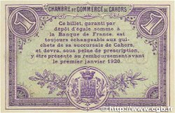 1 Franc FRANCE régionalisme et divers CAHORS 1915 JP.035.14 SPL