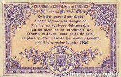 50 Centimes FRANCE régionalisme et divers Cahors 1915 JP.035.16 TB