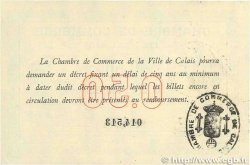 50 Centimes  FRANCE regionalism and miscellaneous Calais 1914 JP.036.01 VF+