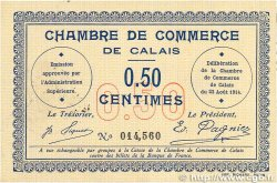 50 Centimes FRANCE régionalisme et divers Calais 1914 JP.036.01 SUP