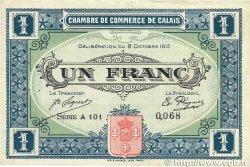 1 Franc FRANCE régionalisme et divers Calais 1915 JP.036.15 pr.TTB