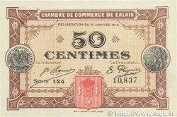 50 Centimes FRANCE régionalisme et divers Calais 1916 JP.036.21 SPL