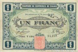 1 Franc FRANCE régionalisme et divers Calais 1916 JP.036.25 pr.TTB