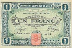 1 Franc FRANCE régionalisme et divers Calais 1916 JP.036.25 SUP