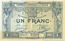 1 Franc FRANCE régionalisme et divers CALAIS 1916 JP.036.30 SUP