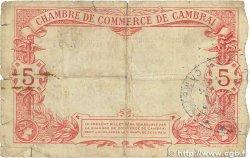 5 Francs FRANCE régionalisme et divers CAMBRAI 1914 JP.037.14 B