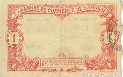 1 Franc FRANCE régionalisme et divers Cambrai 1914 JP.037.21 B+
