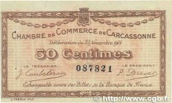 50 Centimes FRANCE régionalisme et divers Carcassonne 1914 JP.038.01 TTB