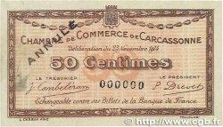 50 Centimes FRANCE régionalisme et divers CARCASSONNE 1914 JP.038.04 TTB+