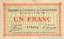 1 Franc FRANCE régionalisme et divers Carcassonne 1920 JP.038.17 pr.TTB