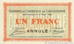 1 Franc FRANCE régionalisme et divers CARCASSONNE 1920 JP.038.18 pr.NEUF