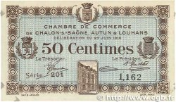 50 Centimes FRANCE régionalisme et divers CHALON-SUR-SAÔNE, AUTUN et LOUHANS 1916 JP.042.01 SUP