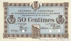50 Centimes FRANCE régionalisme et divers Châlon-Sur-Saône, Autun et Louhans 1916 JP.042.02 SUP+