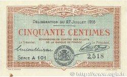 50 Centimes FRANCE régionalisme et divers CHAMBÉRY 1916 JP.044.07 SUP+
