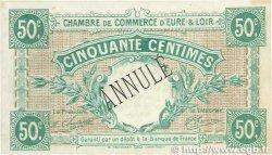 50 Centimes FRANCE régionalisme et divers Chartres 1915 JP.045.02 TTB+