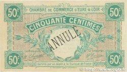 50 Centimes FRANCE régionalisme et divers CHARTRES 1915 JP.045.02 SUP+