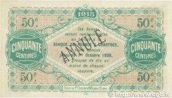 50 Centimes FRANCE régionalisme et divers Chartres 1915 JP.045.02 pr.SPL