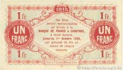 1 Franc FRANCE régionalisme et divers Chartres 1915 JP.045.03 SPL+