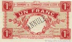 1 Franc FRANCE régionalisme et divers CHARTRES 1915 JP.045.04 TTB+