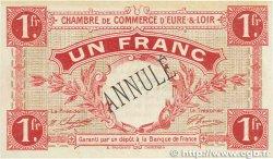 1 Franc FRANCE régionalisme et divers Chartres 1915 JP.045.04 SUP+