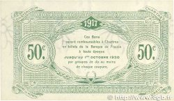 50 Centimes FRANCE régionalisme et divers CHARTRES 1917 JP.045.05 SPL