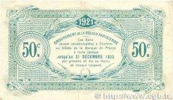 50 Centimes FRANCE régionalisme et divers CHARTRES 1921 JP.045.11 TB