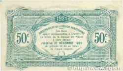 50 Centimes FRANCE régionalisme et divers Chartres 1921 JP.045.11 TTB