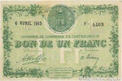 1 Franc FRANCE régionalisme et divers Chateauroux 1915 JP.046.02 TTB