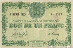 1 Franc FRANCE régionalisme et divers CHÂTEAUROUX 1915 JP.046.02 TTB+