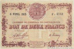 2 Francs FRANCE régionalisme et divers Chateauroux 1915 JP.046.04 TTB