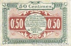 50 Centimes FRANCE régionalisme et divers Chateauroux 1919 JP.046.20 TTB