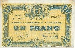 1 Franc FRANCE régionalisme et divers CHATEAUROUX 1920 JP.046.23 SUP
