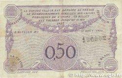 50 Centimes FRANCE régionalisme et divers Chateauroux 1920 JP.046.24 TB