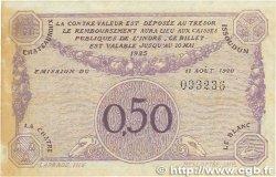 50 Centimes FRANCE régionalisme et divers Chateauroux 1920 JP.046.24 TTB+