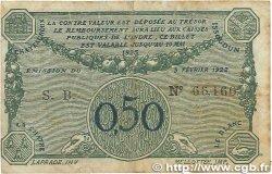 50 Centimes FRANCE régionalisme et divers CHATEAUROUX 1922 JP.046.28 B+