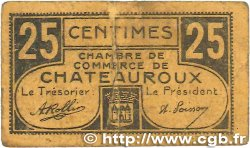 25 Centimes FRANCE regionalism and various Chateauroux 1918 JP.046.33 F