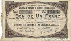 1 Franc FRANCE régionalisme et divers Clermont-Ferrand, Issoire 1918 JP.048.01 TB