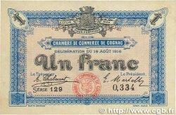 1 Franc FRANCE régionalisme et divers Cognac 1916 JP.049.03 TTB