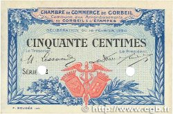 50 Centimes FRANCE régionalisme et divers CORBEIL 1920 JP.050.02 TTB+