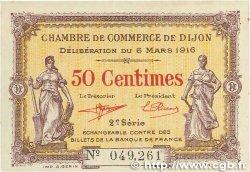 50 Centimes FRANCE régionalisme et divers DIJON 1916 JP.053.07 TTB