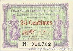 25 Centimes FRANCE régionalisme et divers DIJON 1920 JP.053.23 pr.NEUF