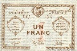 1 Franc FRANCE régionalisme et divers ELBEUF 1917 JP.055.12 NEUF