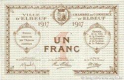 1 Franc FRANCE régionalisme et divers ELBEUF 1917 JP.055.12 TTB+