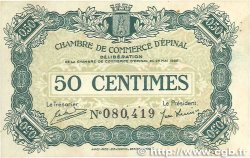 50 Centimes FRANCE regionalism and various ÉPINAL 1920 JP.056.01 VF