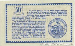 50 Centimes FRANCE régionalisme et divers FOIX 1915 JP.059.05var. SUP