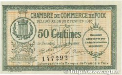 50 Centimes FRANCE régionalisme et divers FOIX 1915 JP.059.05 TTB+