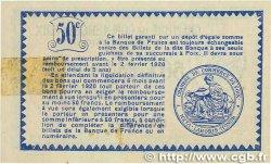 50 Centimes FRANCE régionalisme et divers FOIX 1915 JP.059.09 SUP