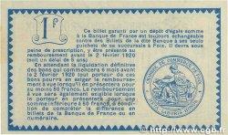 1 Franc FRANCE régionalisme et divers FOIX 1915 JP.059.11 SPL