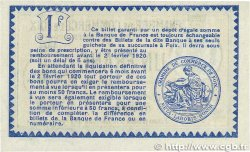 1 Franc FRANCE régionalisme et divers FOIX 1915 JP.059.11 pr.NEUF