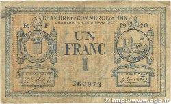 1 Franc FRANCE régionalisme et divers FOIX 1920 JP.059.15
